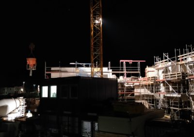 Die Baustelle bei Nacht