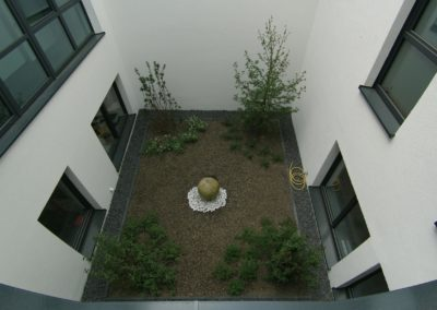 Der Innenhof des Baumschulenweg 19
