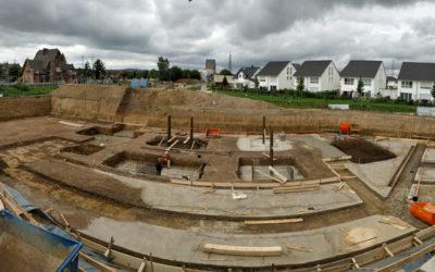 Die Fundamente werden vorbereitet