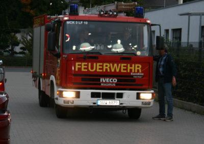 Der Löschzug Lüftelberg rückt an